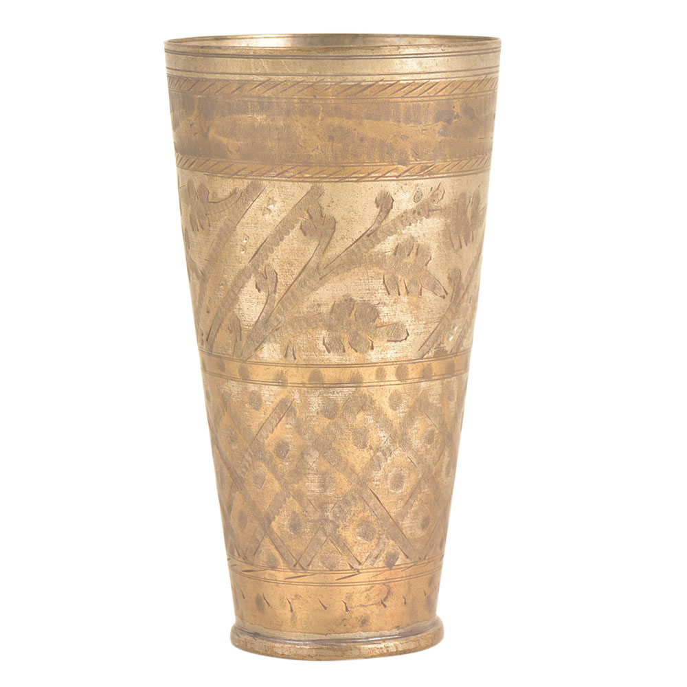 Designer Hand Crafted Brass Punjabi Lassi Glass Kitchenware