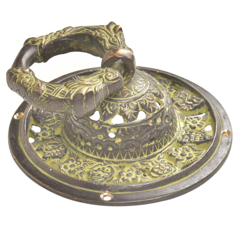 Decorative Hand Made Ornate Green Brass Door knocker
