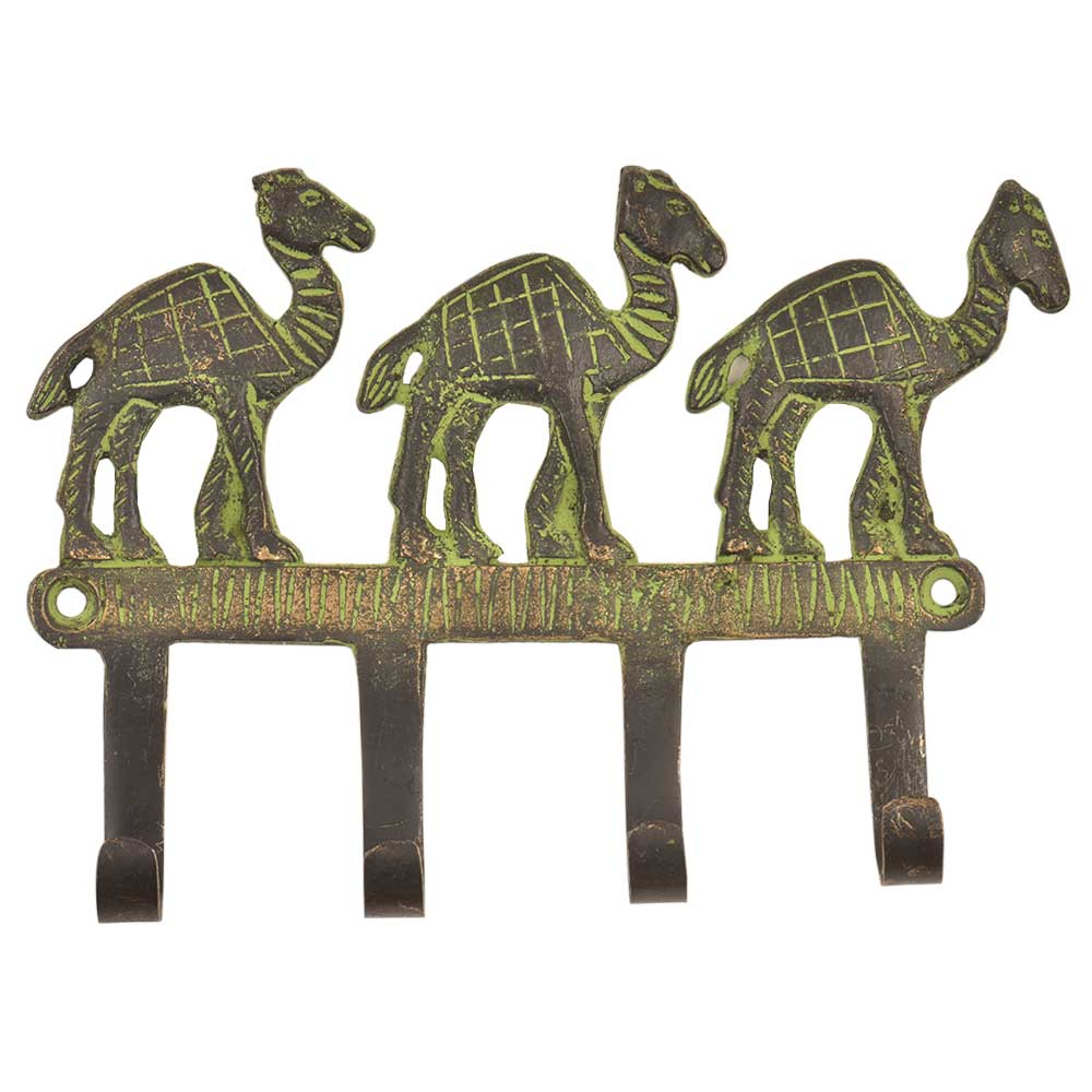 Vintage Retro Camel Solid Brass Animal Wall Hooks