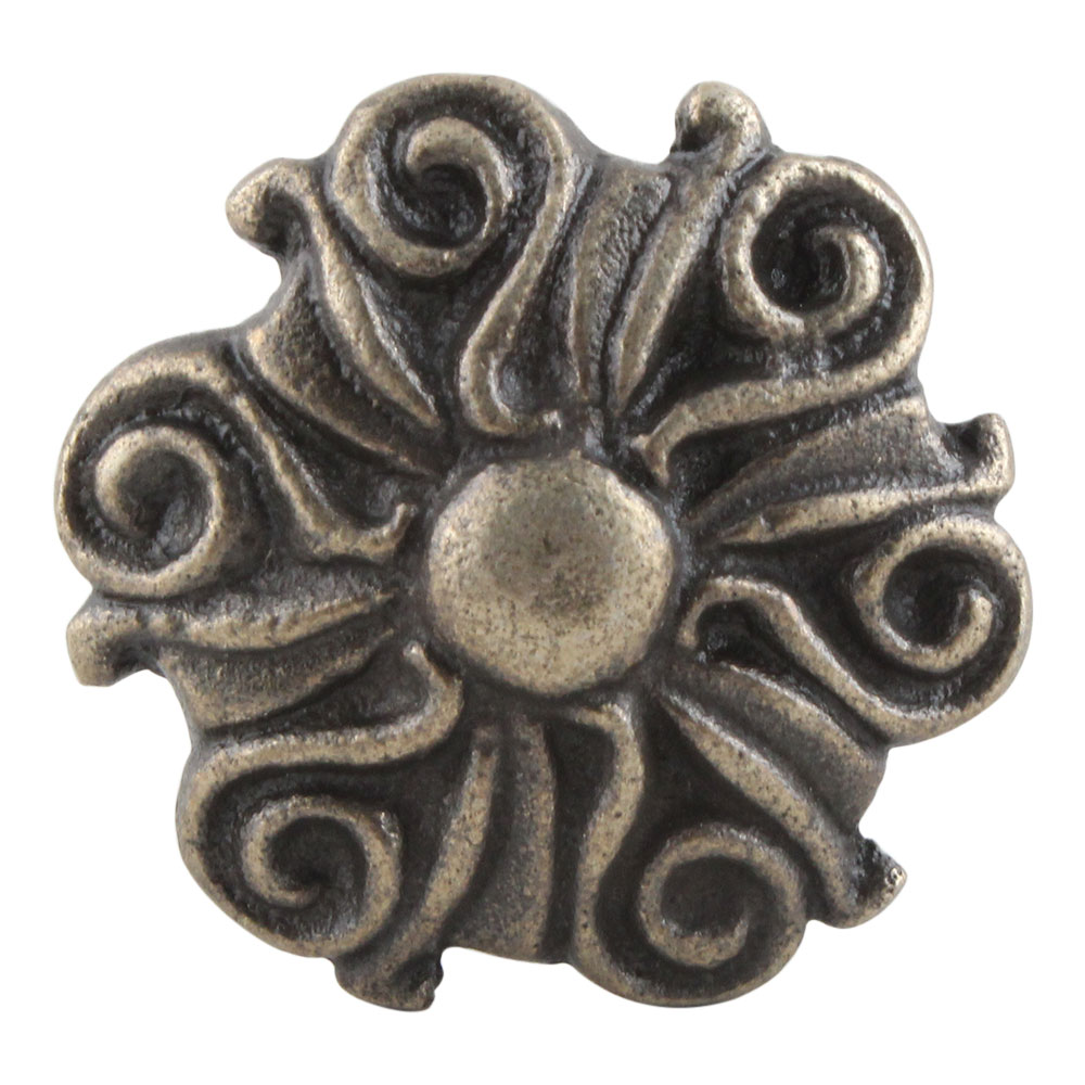 Antique Floral Iron Cabinet Knobs Online