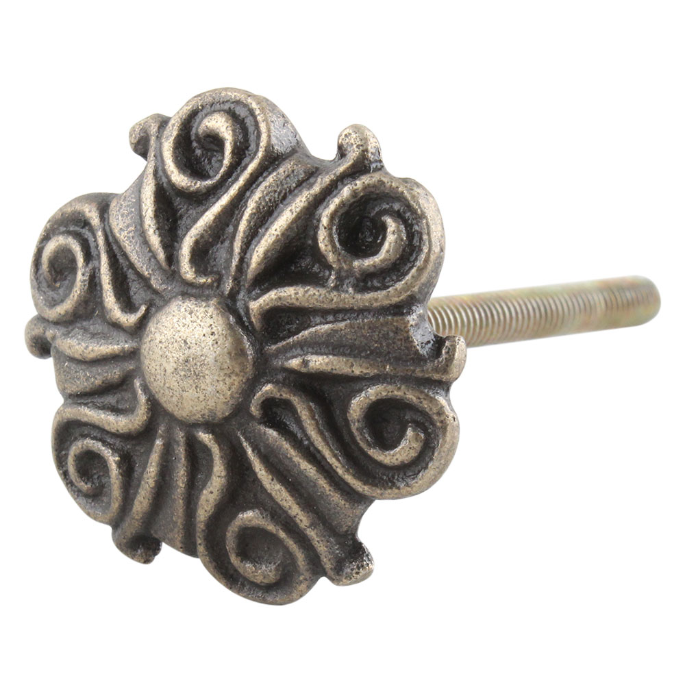 Antique Floral Iron Cabinet Knobs Online