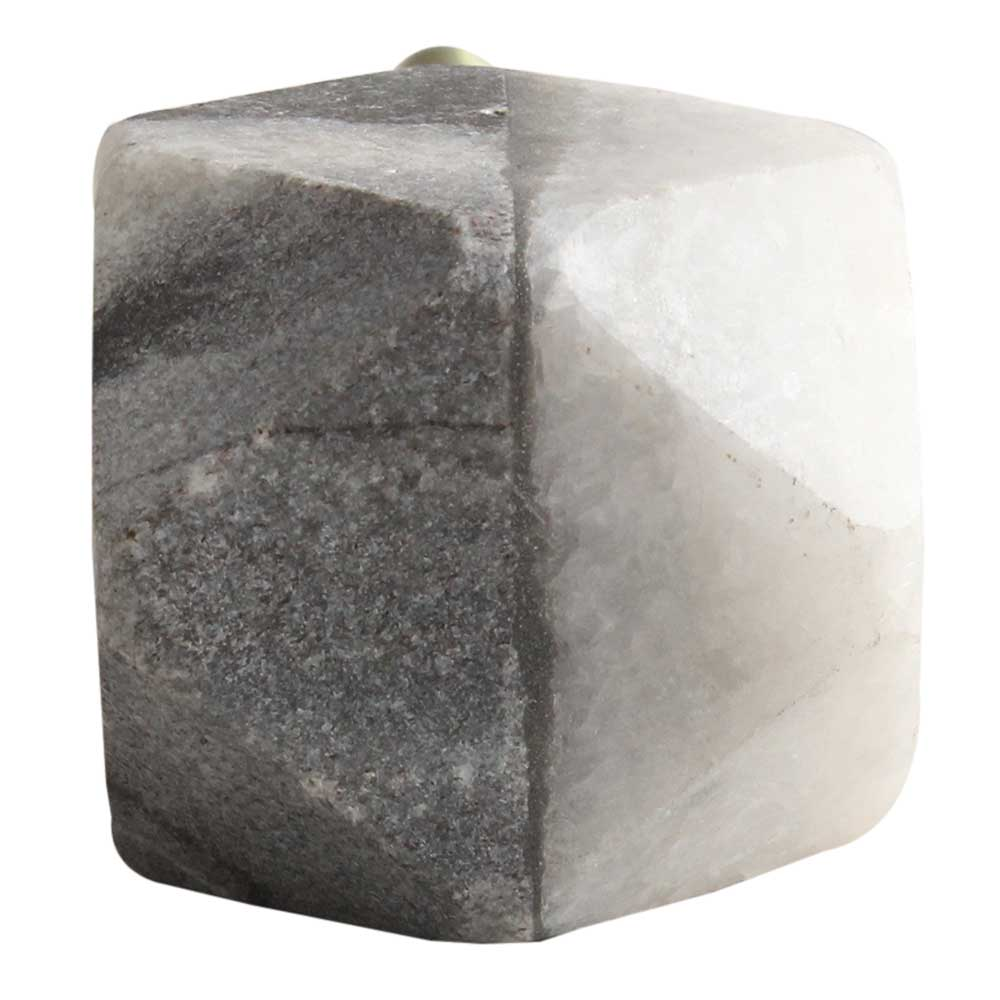 Grey And White Hexagon Stone Cabinet Knobs Online