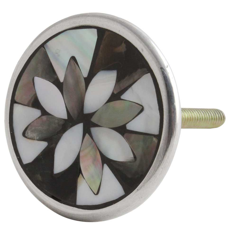 Mixed Shell Floral Metal Knobs Online