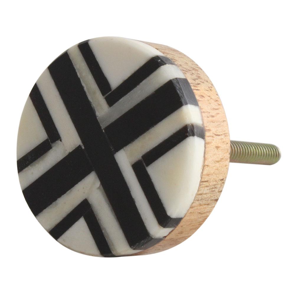 Black Round Bone Horn Cabinet Wooden Knob Online