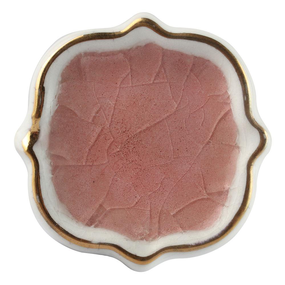 Pink Solid Gold Line Ceramic Dresser Knob Online