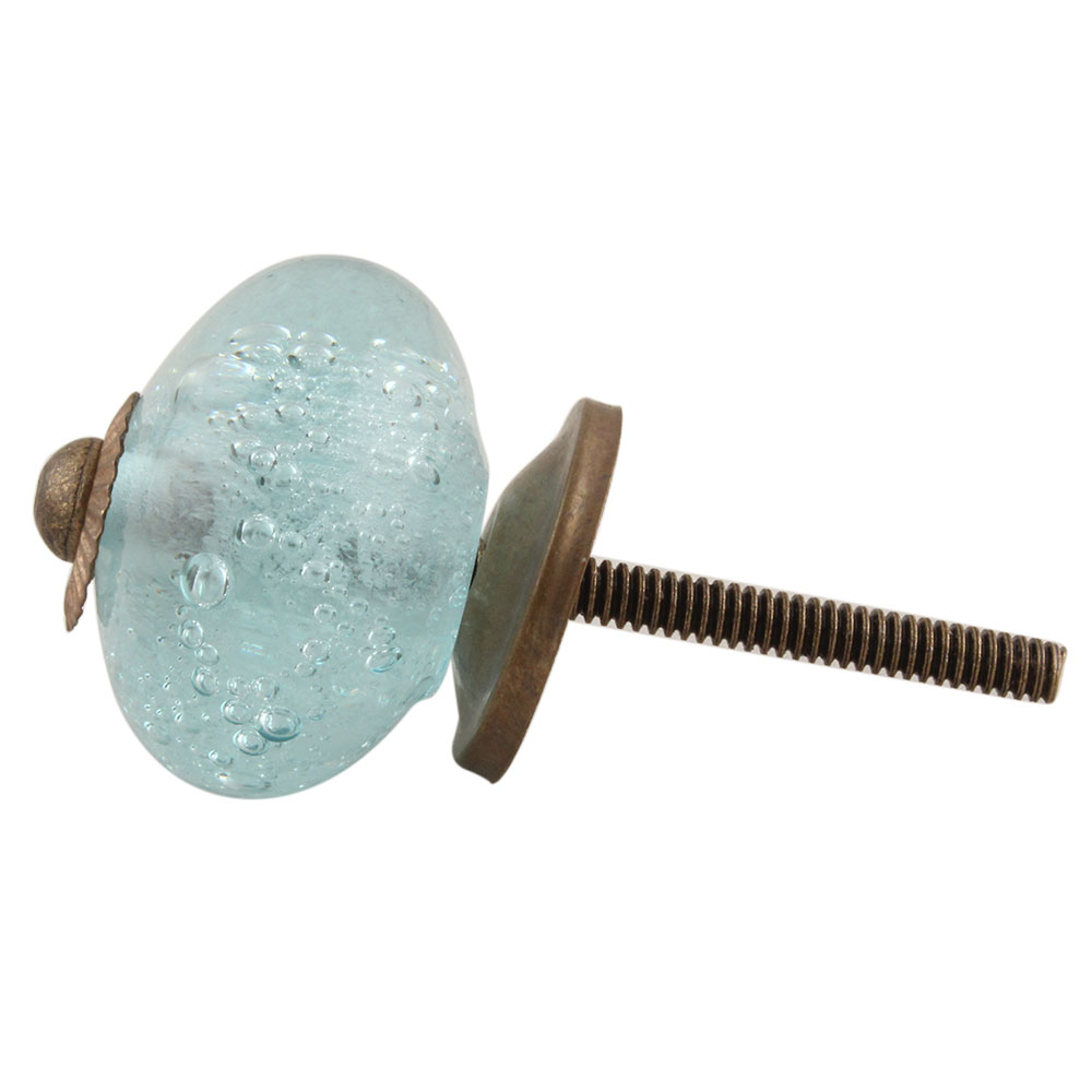 Light Blue Bubble Cabinet Knobs