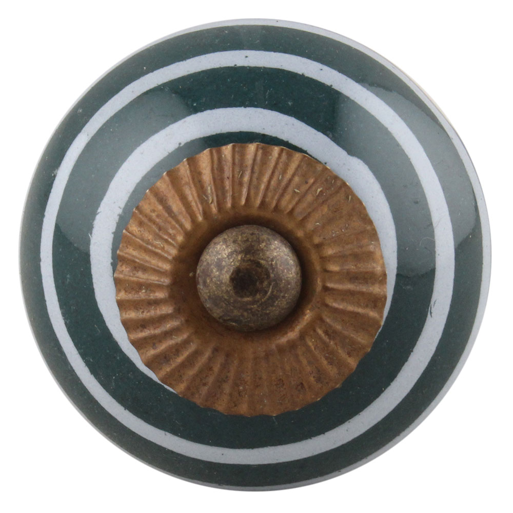 Dark Green Strip Knob