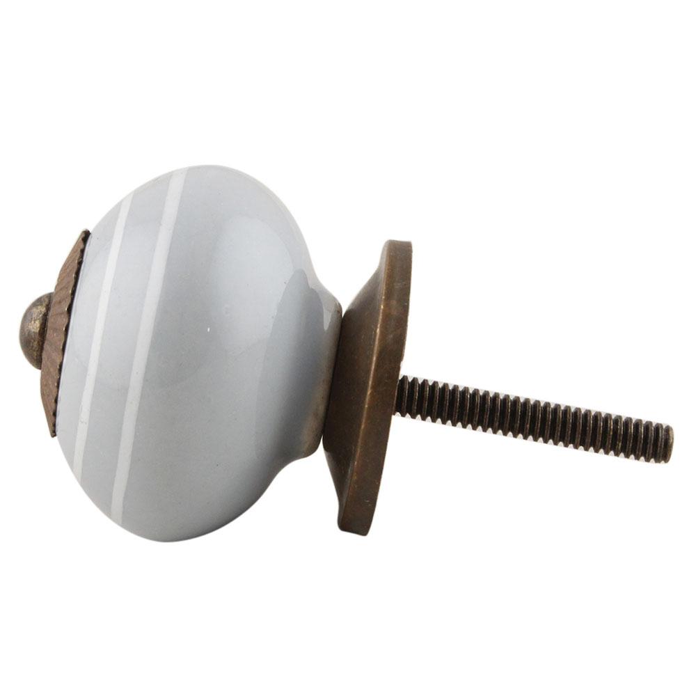 Light Grey White Knob