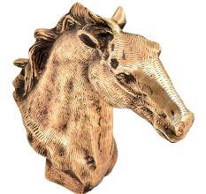 Indian Handmade Brass Horse Head Bookend Statue