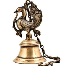 Traditional Brass Peacock Temple Hanging Bell