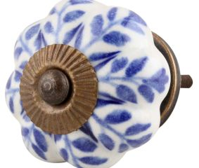 Blue Agapanthus Floral Knob
