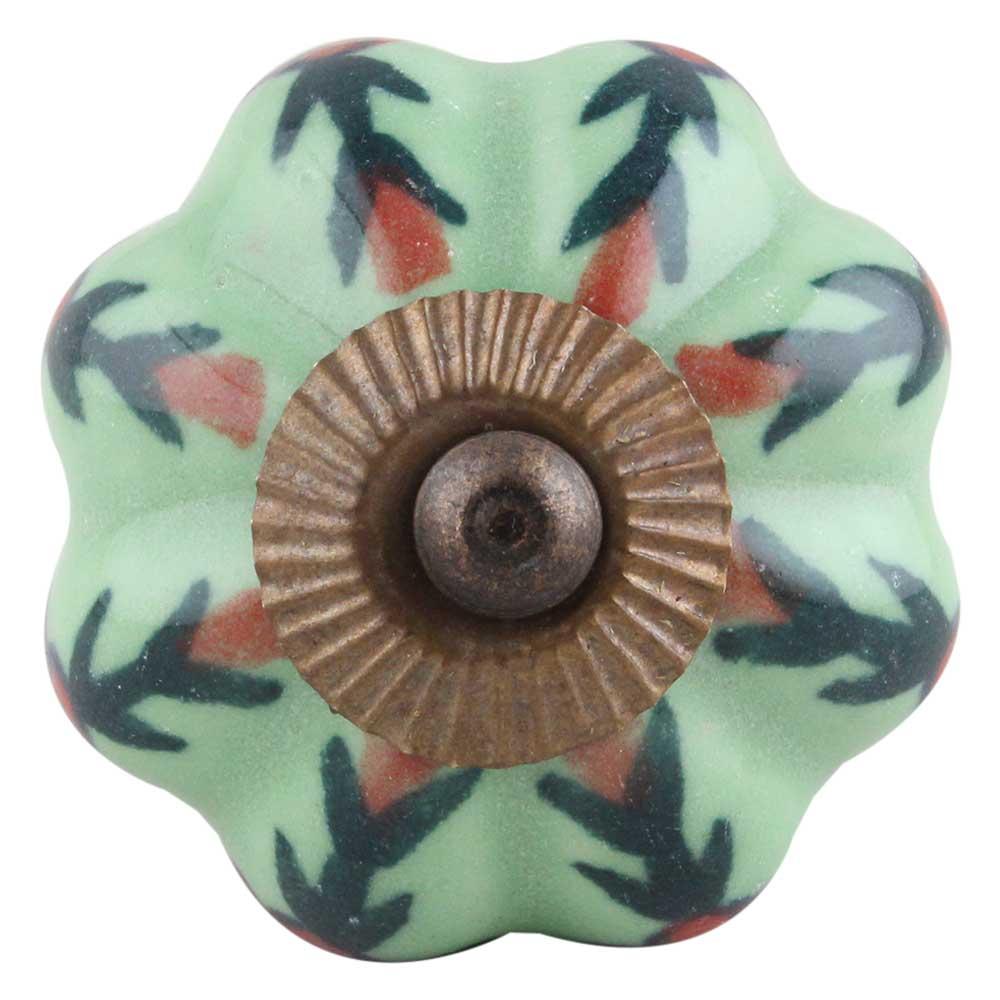 Red Grass Ceramic Knob
