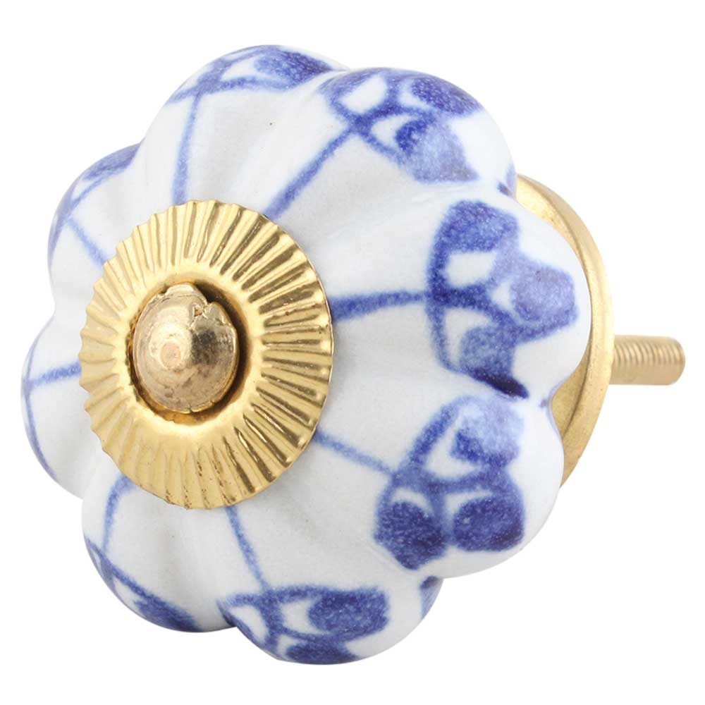 Blue Shamrock Ceramic Knob