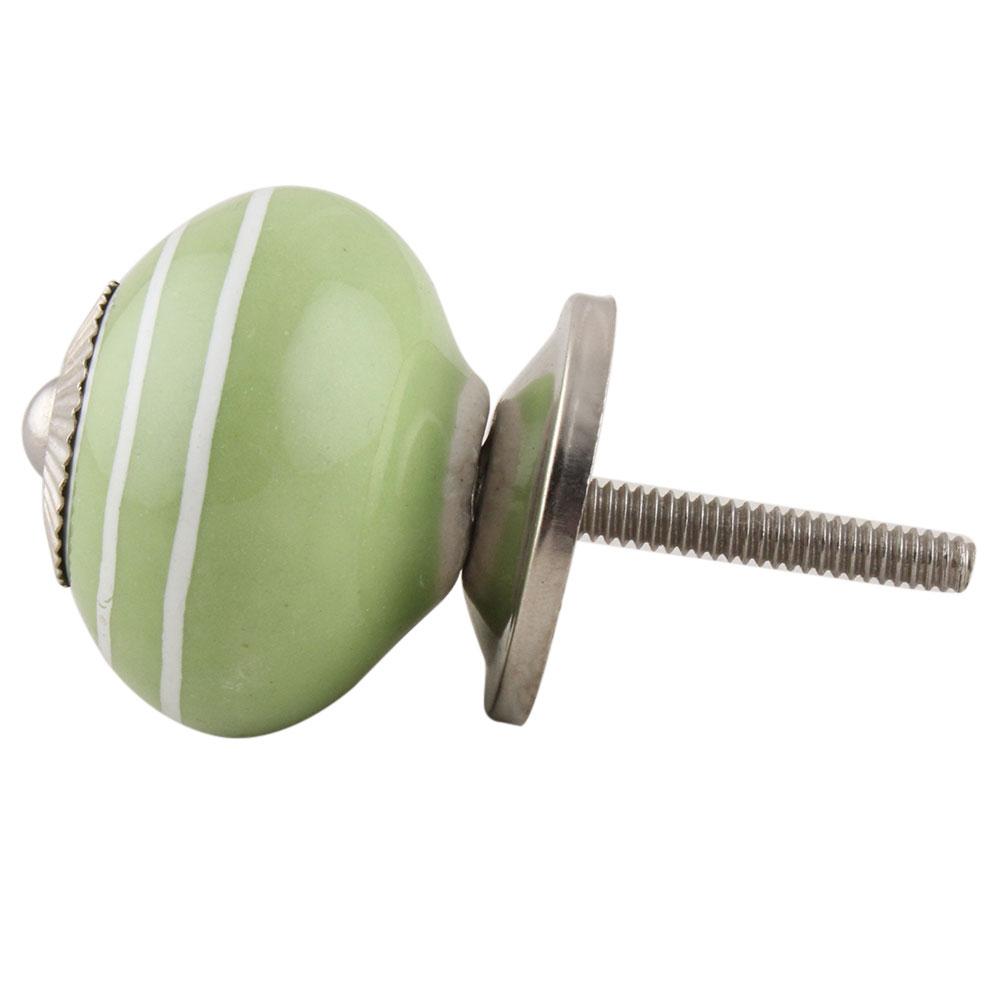 Pea Green White Knob