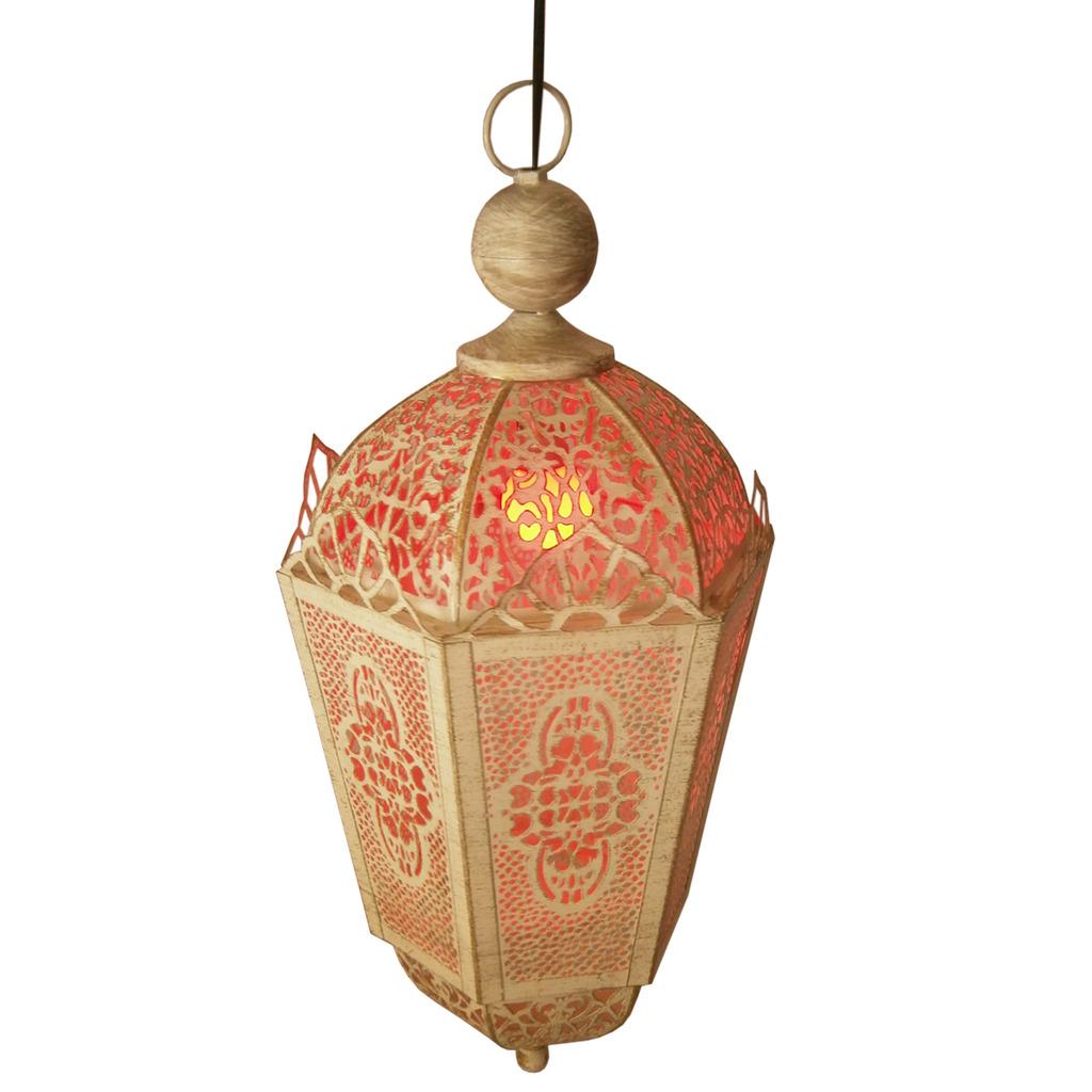Antique Hanging Electric Lamp And Tea Light Lantern