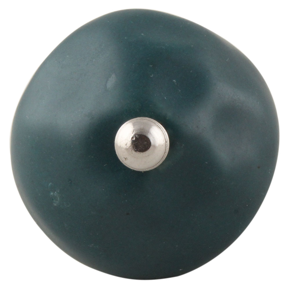 Forest Green Round Solid Knob