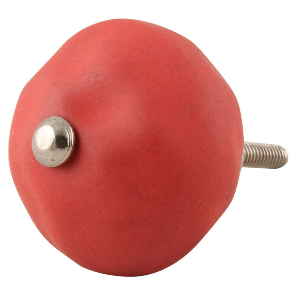Red Round Solid Knob
