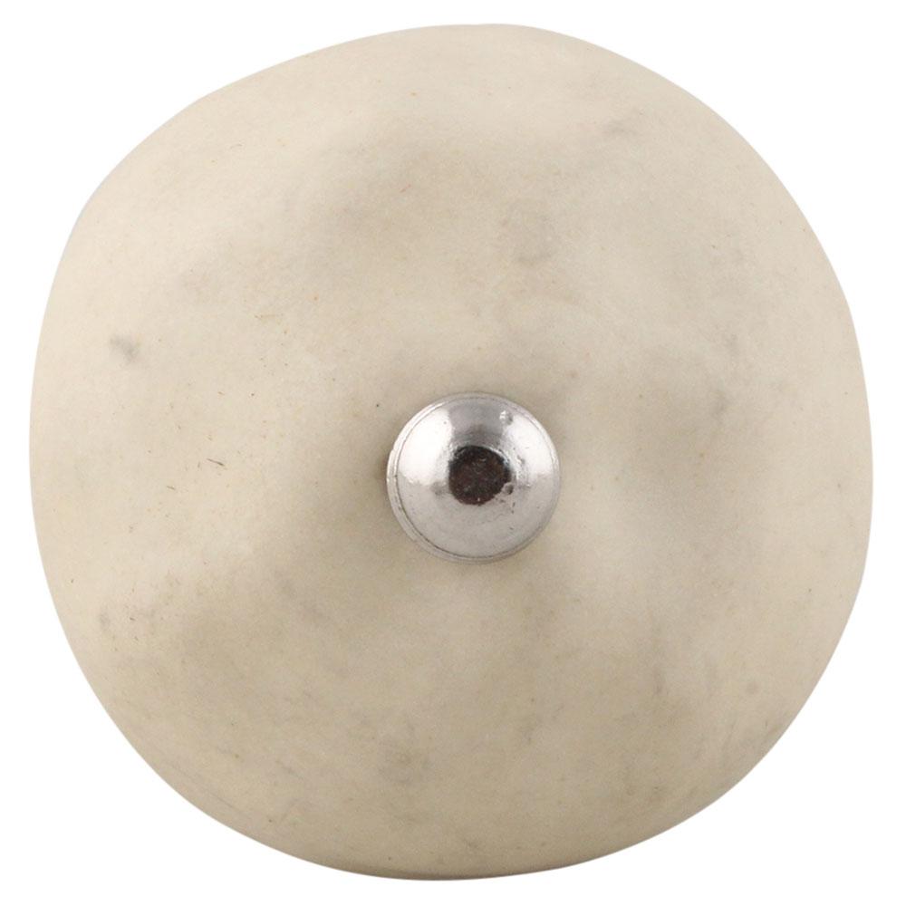 Solid Cream Ceramic Knobs