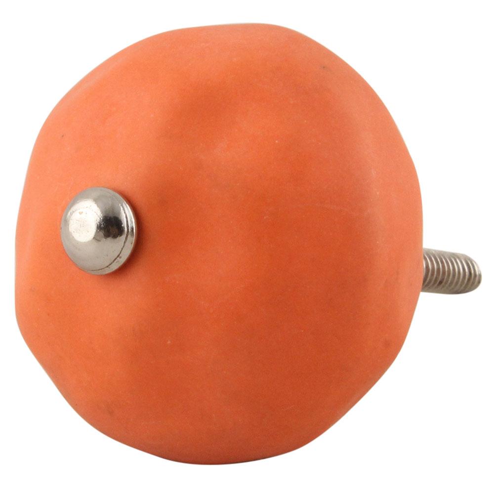 Solid Orange Ceramic Knobs