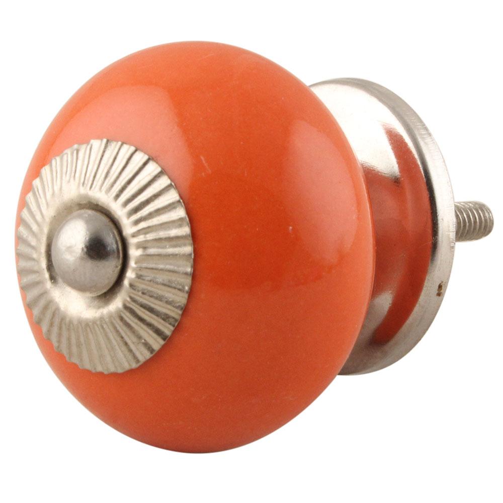 Orange Round Knob