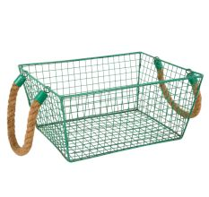 Iron Wire Basket With Roop Handal