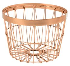 Iron Wire Basket In Copper Colour