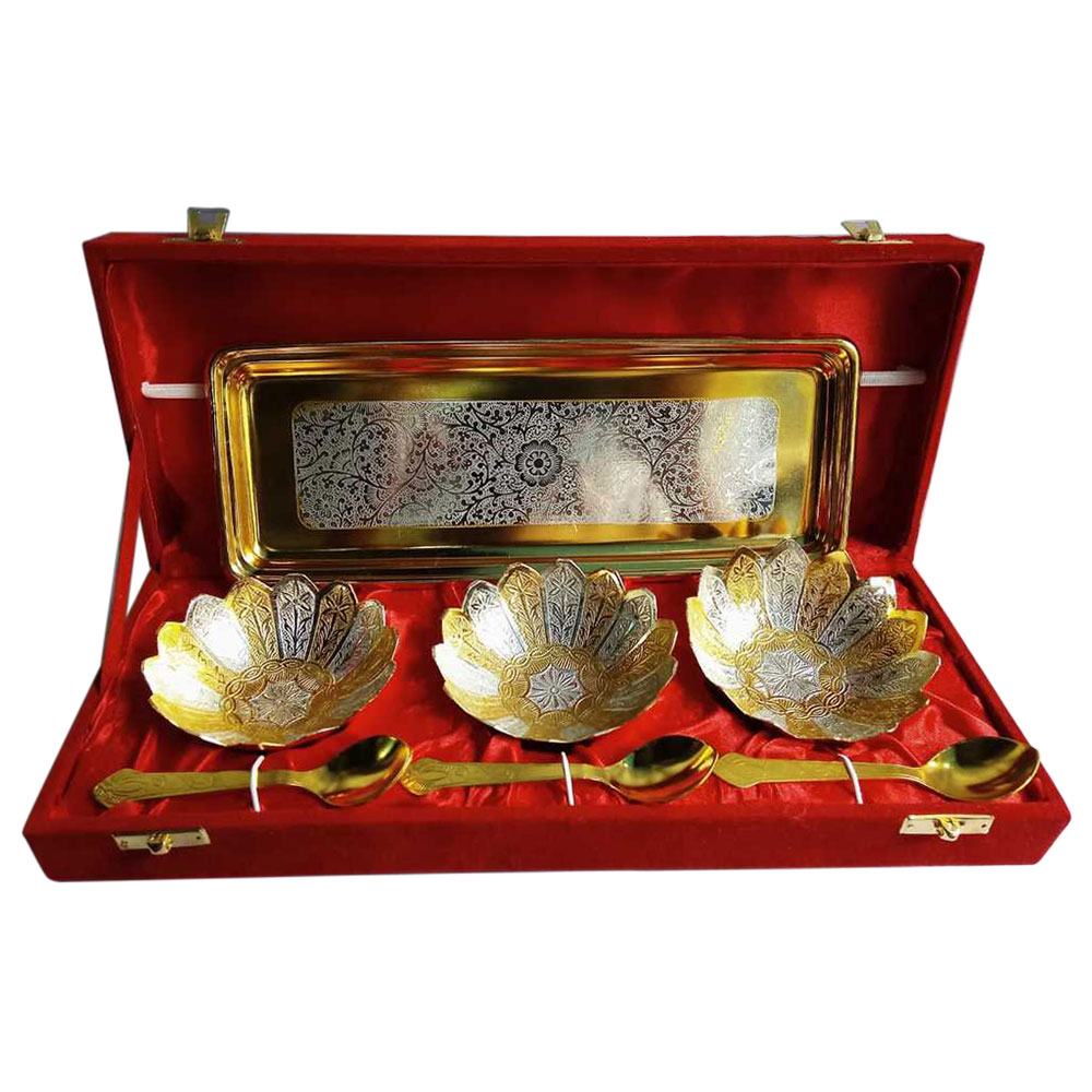 Brass Decorative Bowl Set