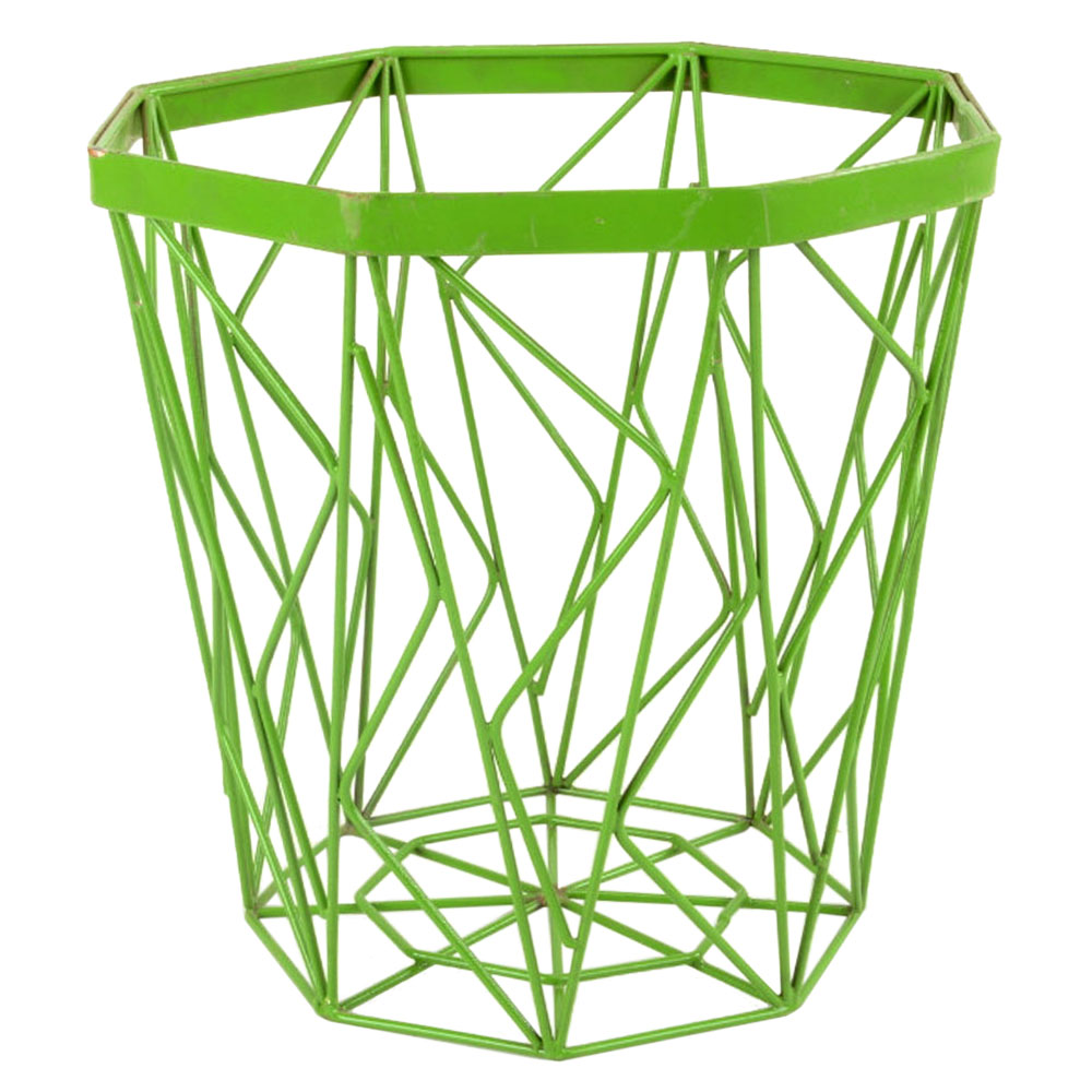 Metal Basket In Light Green