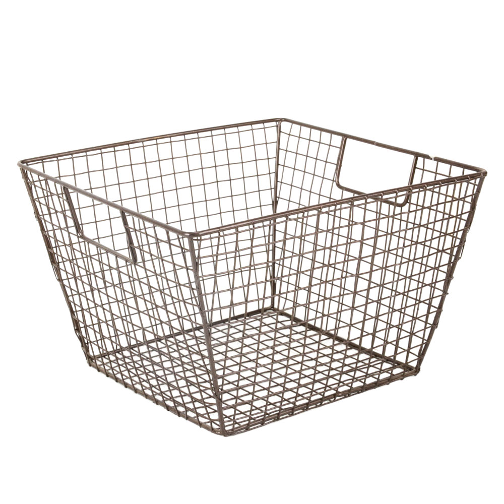Iron Wire Basket In Black