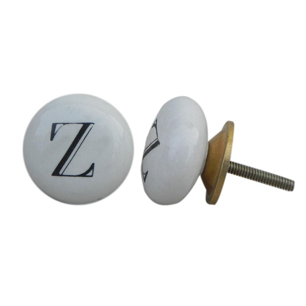 Z Alphabet Ceramic Dresser Drawer Knobs