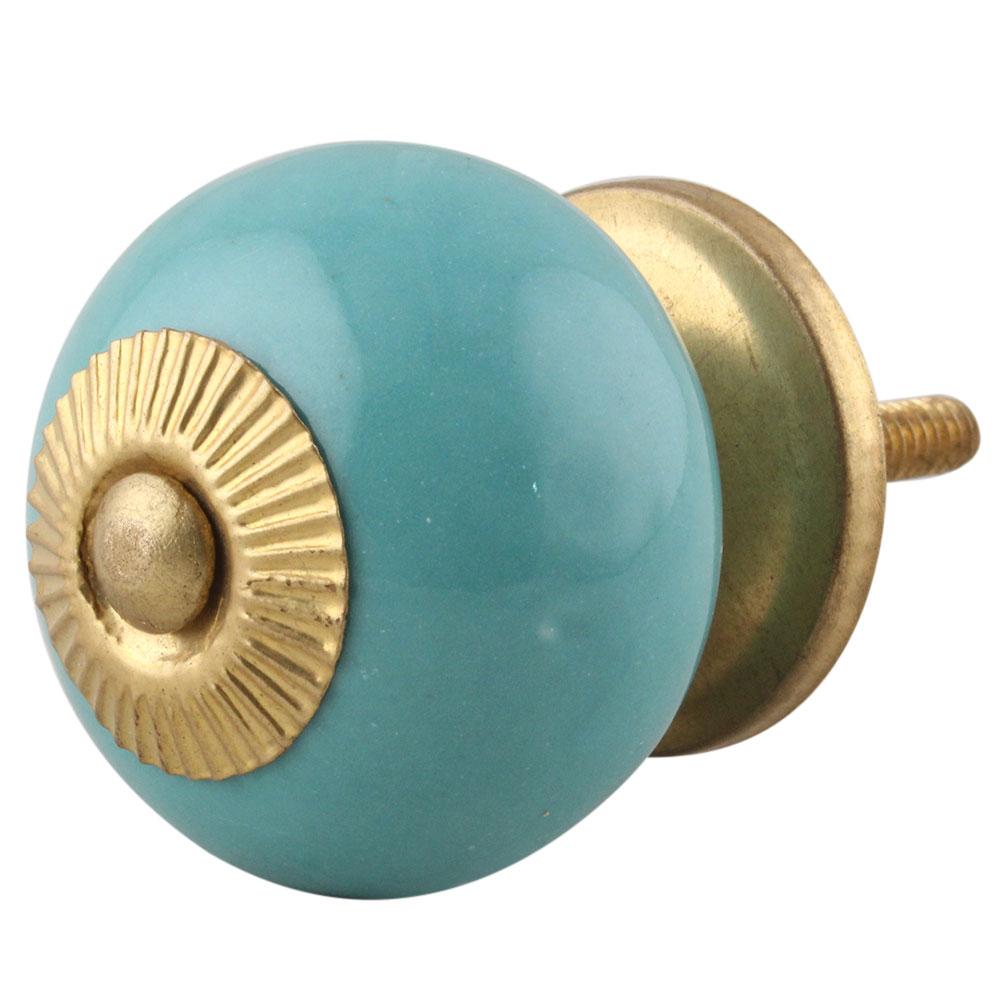 Solid Sea Green Knob