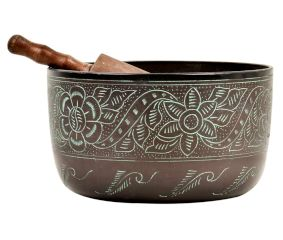 Brass Natural Sound Singing Bowl With Striker