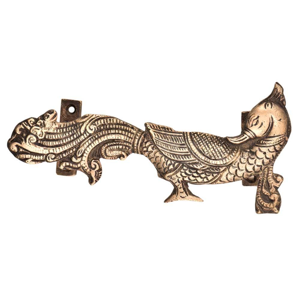 Indain Handcrafted Peacock Brass Door Handle