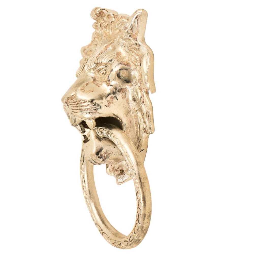Handmade Silver Lion Head Ring Door Knocker
