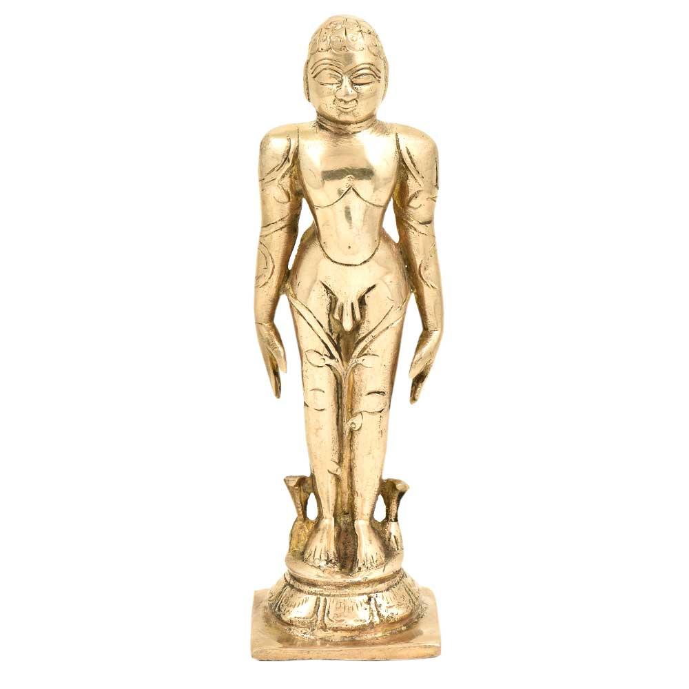 Handmade Gomateshwara Bahubali  Brass Idol Statue