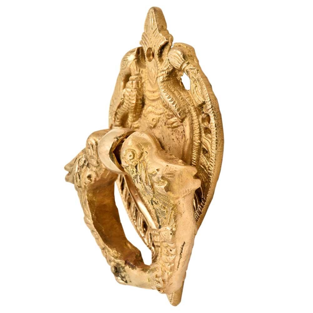 Decorative Hand Made Ornate Golden Brass Door knocker