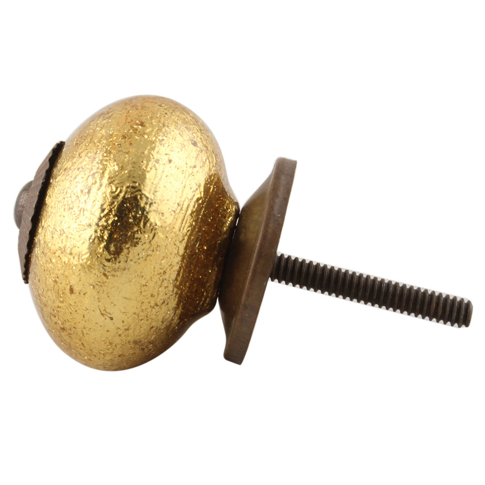 Golden Ceramic Knob