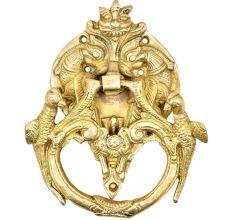 Solid Brass Birds And Dragon Head Door Knocker Ring