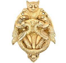 Brass Door Knocker With Thunder Dragon Two Fishes Door Metal Knocker