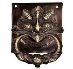 Handcrafted Heavy Demon Faced Brass Door knocker