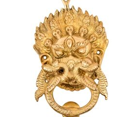 Brass Shiva Mahakal Door Knocker Wall Decor Hanging
