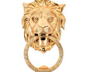 Handmade BrassLion Head Ring Door Knocker