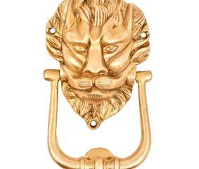 Hand Finished Majestic Lion Face Door knocker