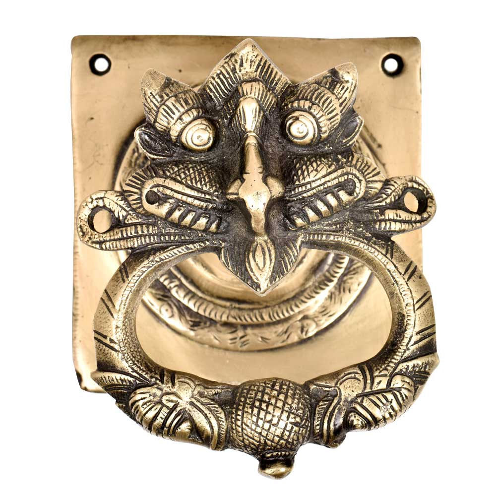 Hand Crafted Solid Brass Dragon Face Home Decoration  Door Knocker