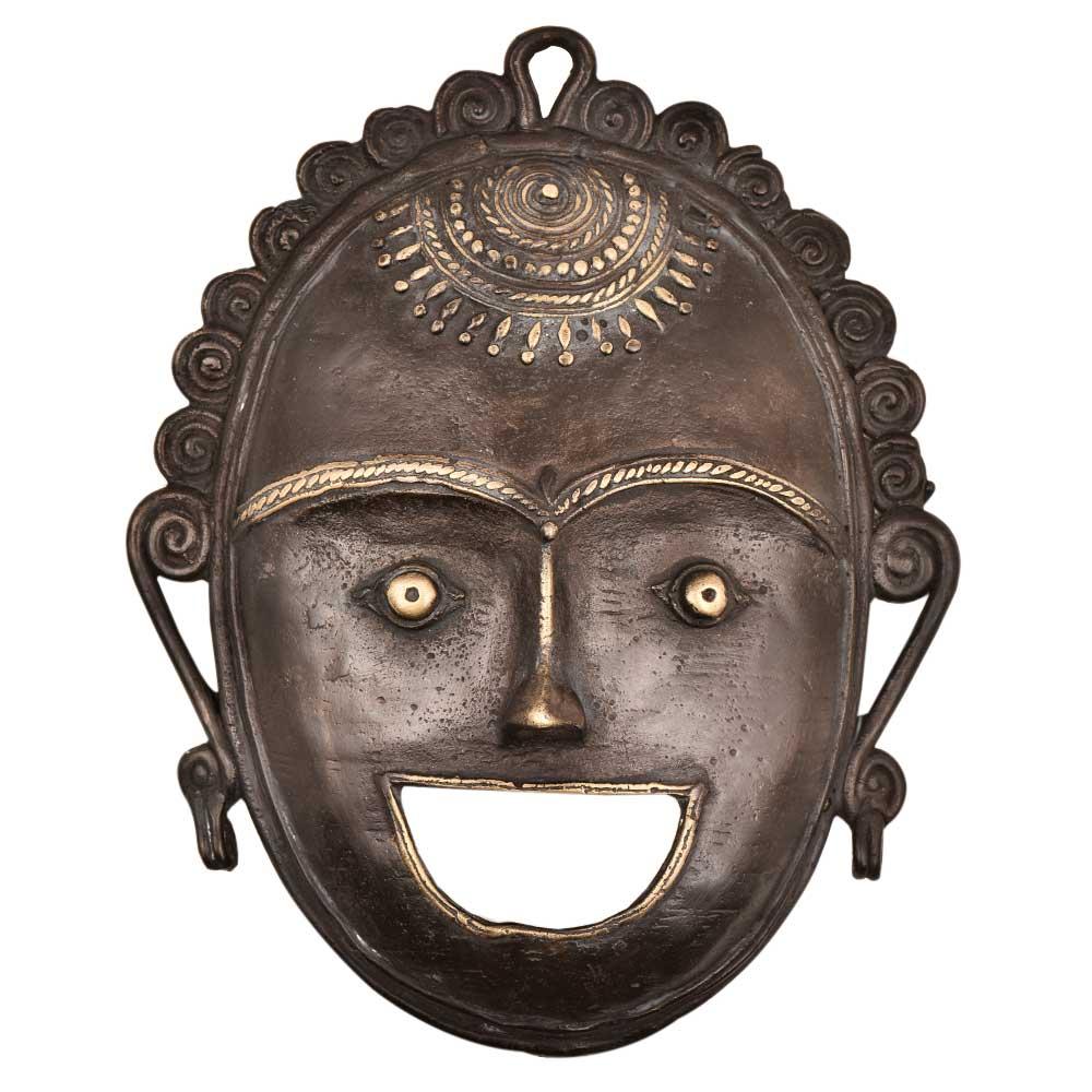 Antique Reproduction Wall Decor Buddha Mask MZO
