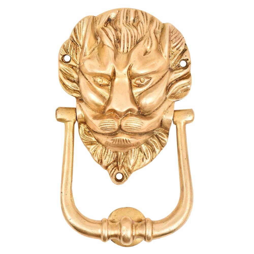 Hand Finished Majestic Lion Face Door knocker