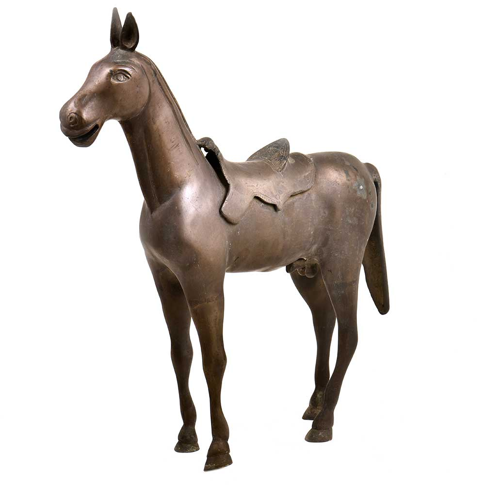 HandCrafted Standing Wild Horse Statue Home Decor