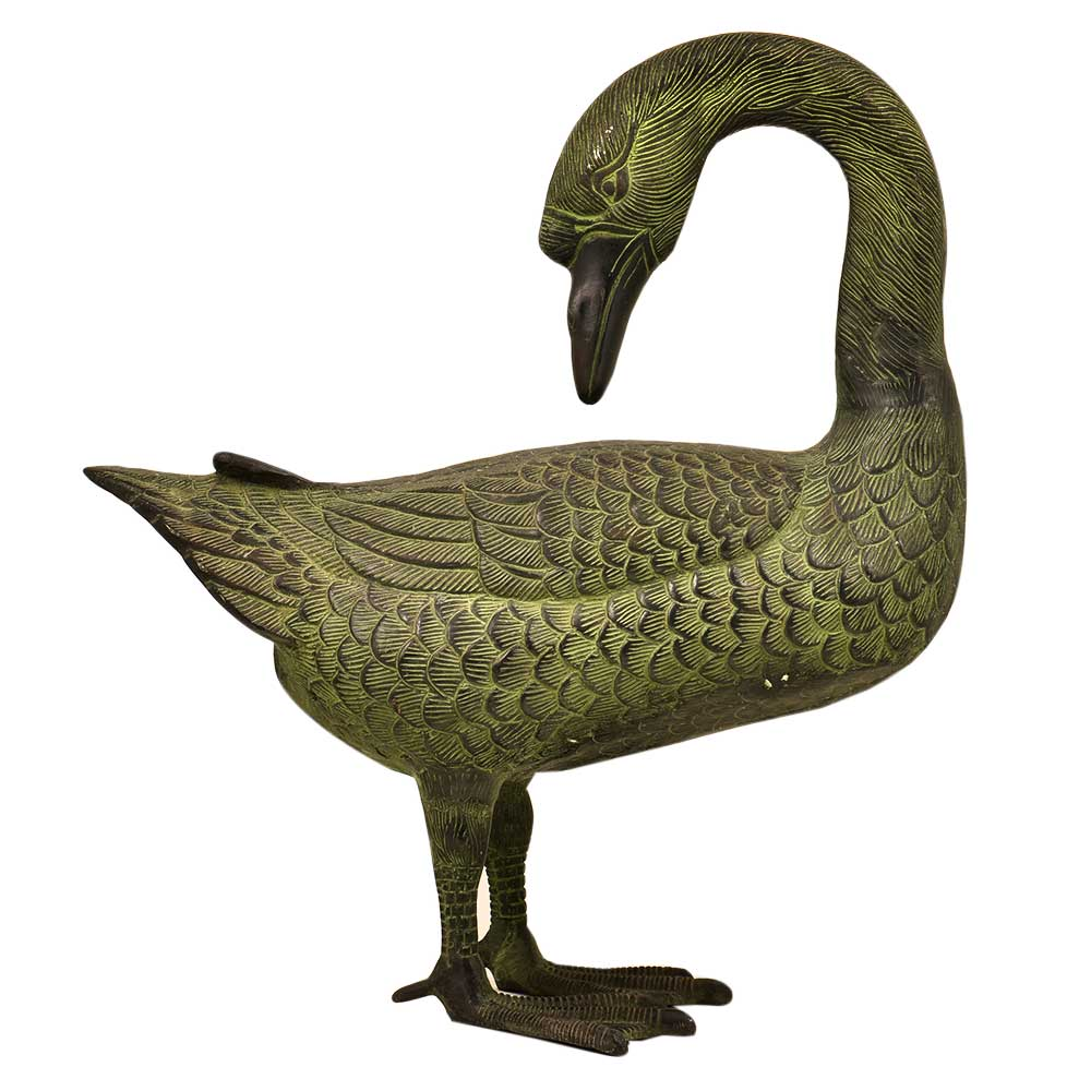 Solid Brass Standing Duck Home Decoration Statue