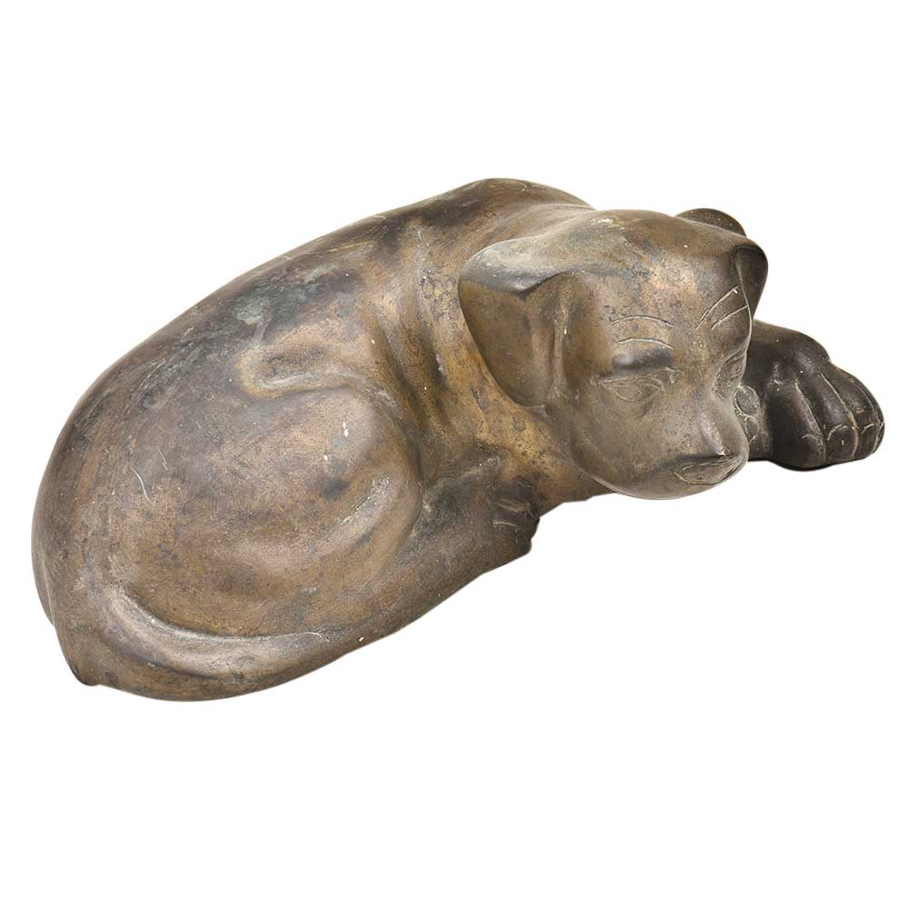Realistic Pet Lab Sitting  Bronze Dog Statue Labrador Statue