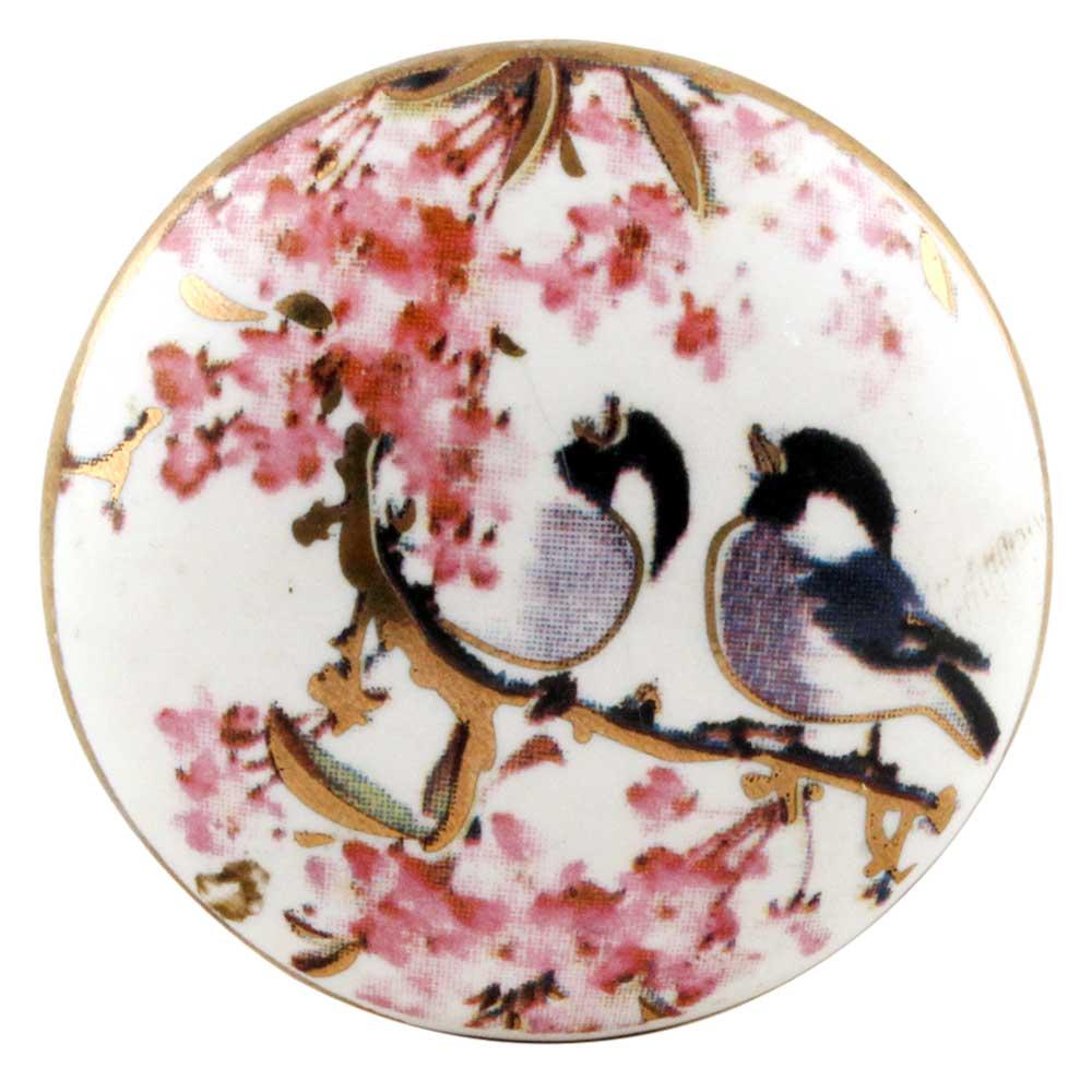 Birds Ceramic Door Cupboard Pull Knobs